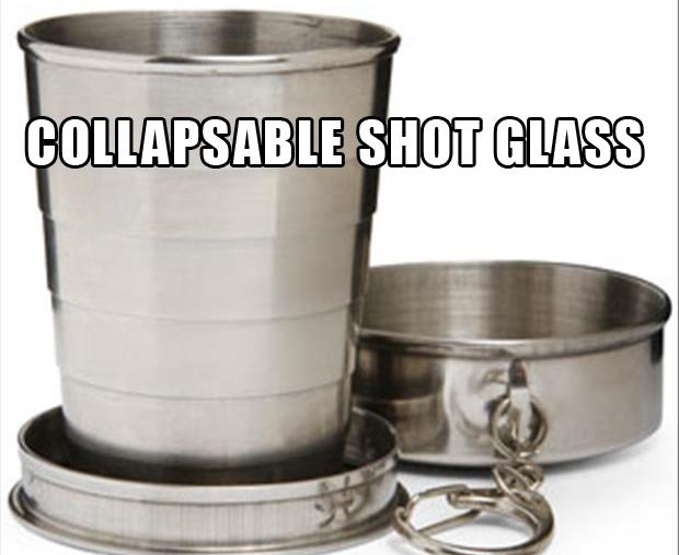 collapsable shot glass, stocking stuffers