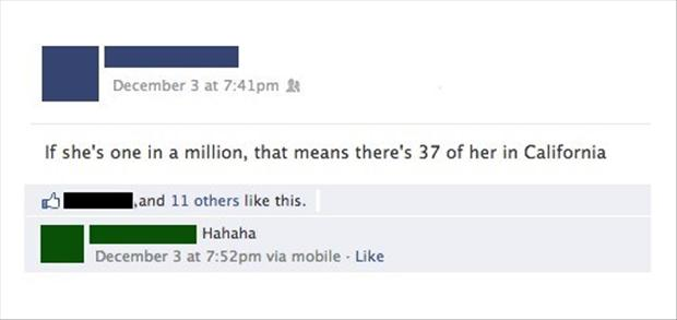 funny facebook quotes, one in a million