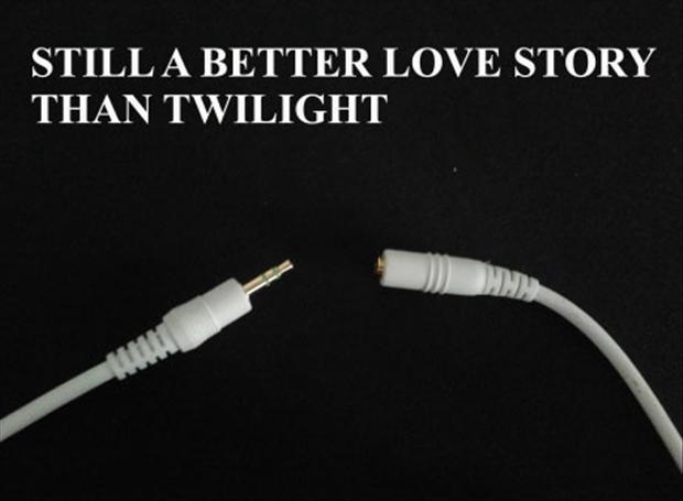 still a better love story than twilight, headset