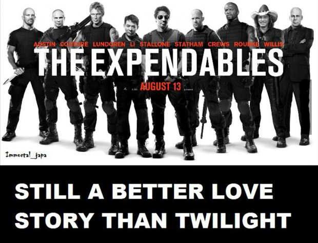the expendables, still a better love story than twilight