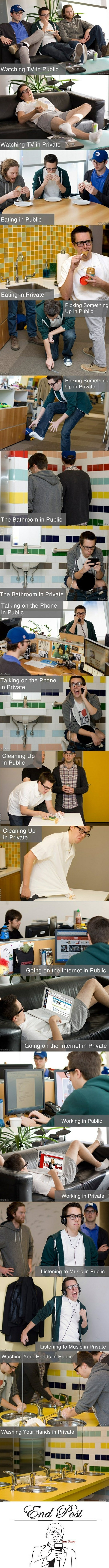 Funny pictures of public private behaviours