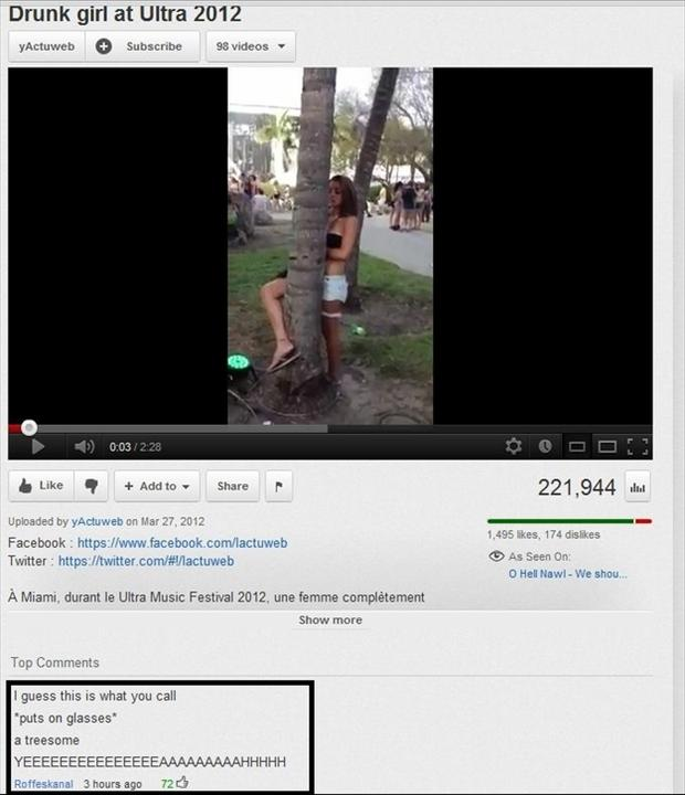 threesome, funny youtube comments