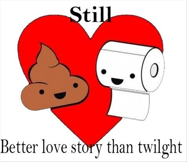 toilet paper, a better love story than twilight