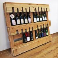a wine bottle holder used pallet crafts - Dump A Day