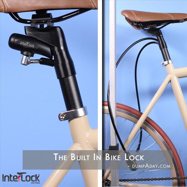 Genius Ideas- built in bike lock