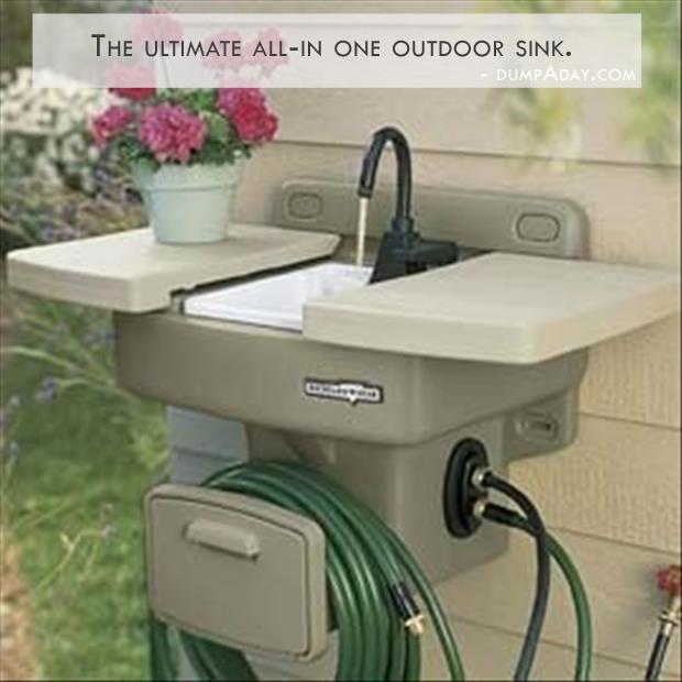 Genius Ideas- outdoor sink