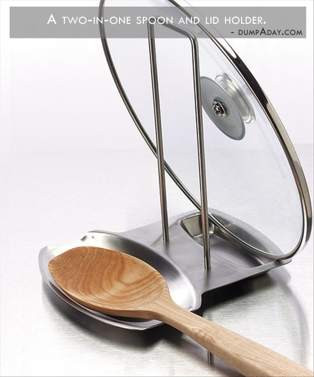 Genius Ideas- spoon and lid holder while cooking