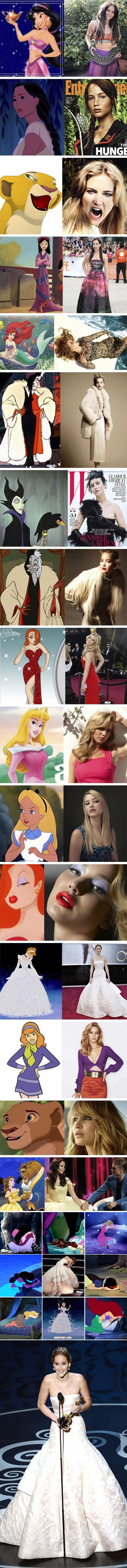 Jenifer lawerence is the disney princesses