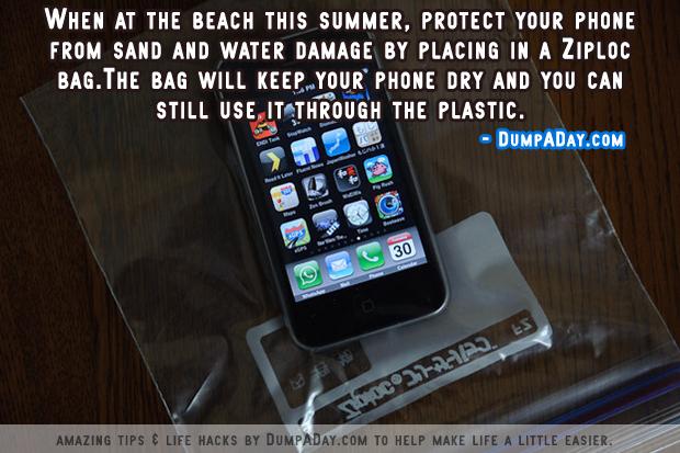 DumpADay Life Hacks- Beach Phone