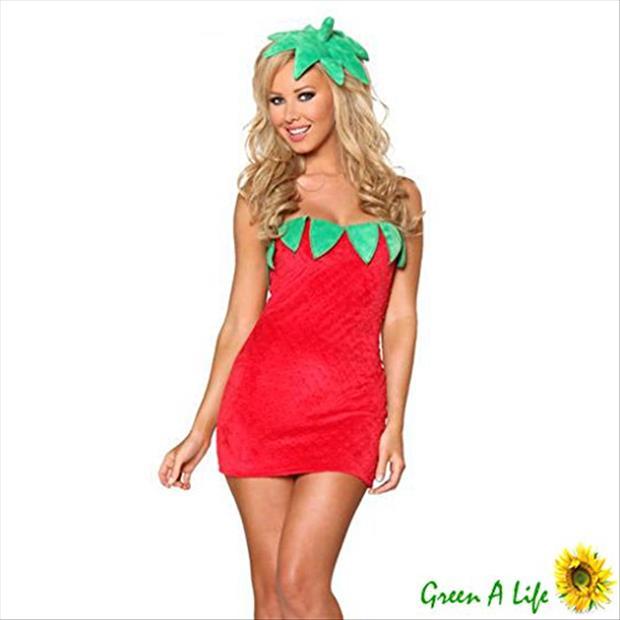 sexy strawberry halloween costume