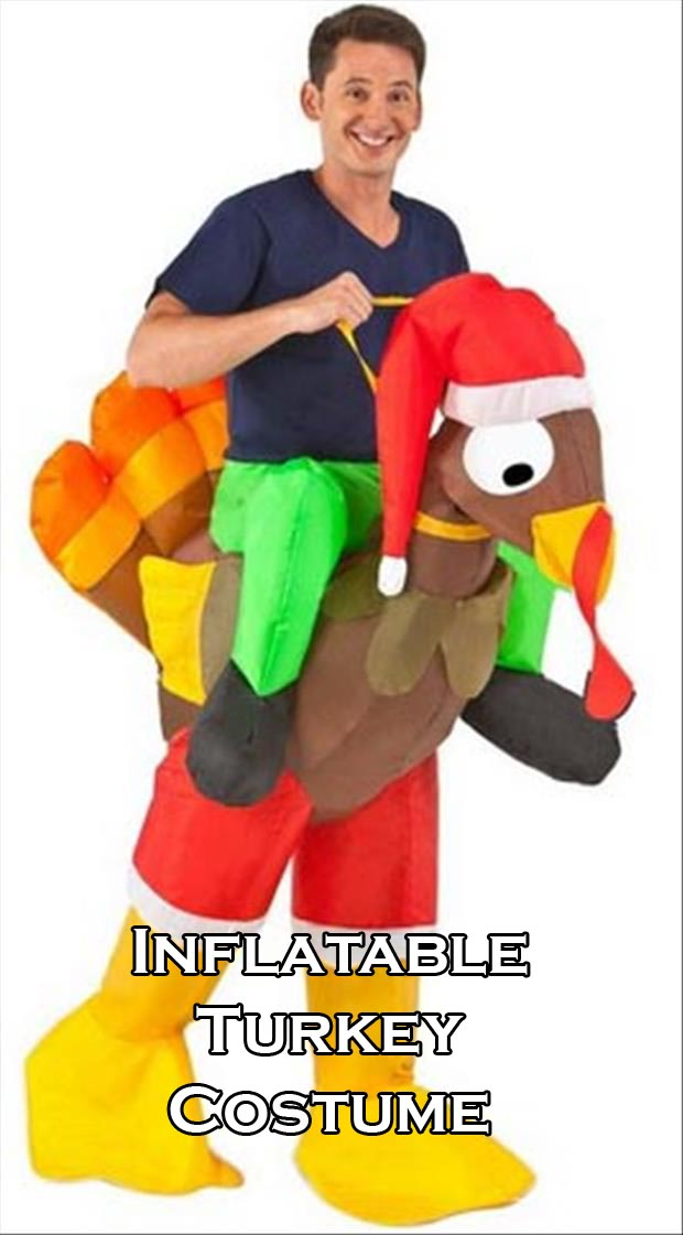 inflatable costume turkey