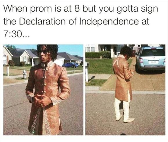 going to prom