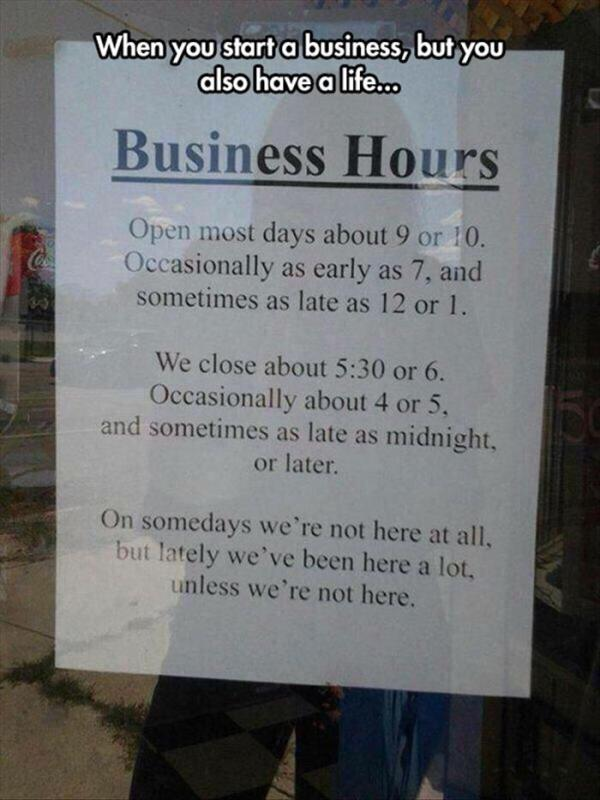 when you start a business