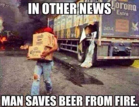 he saves the beer