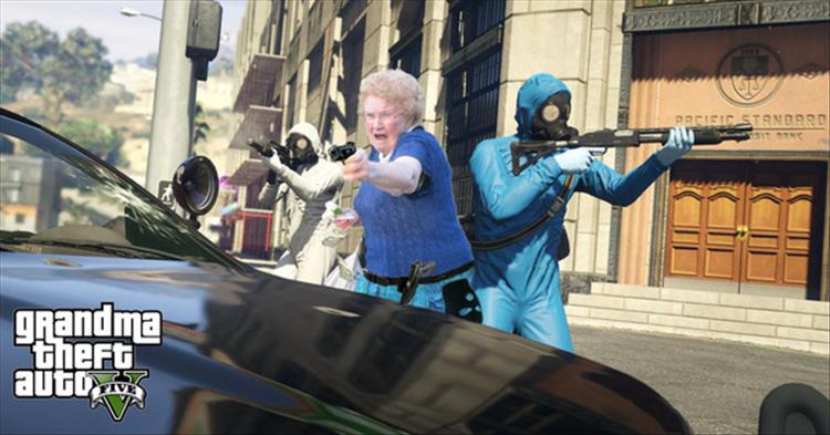 Granny With A Water Gun Gets A Photoshop MakeOver Thanks To The Internet  18 Pics