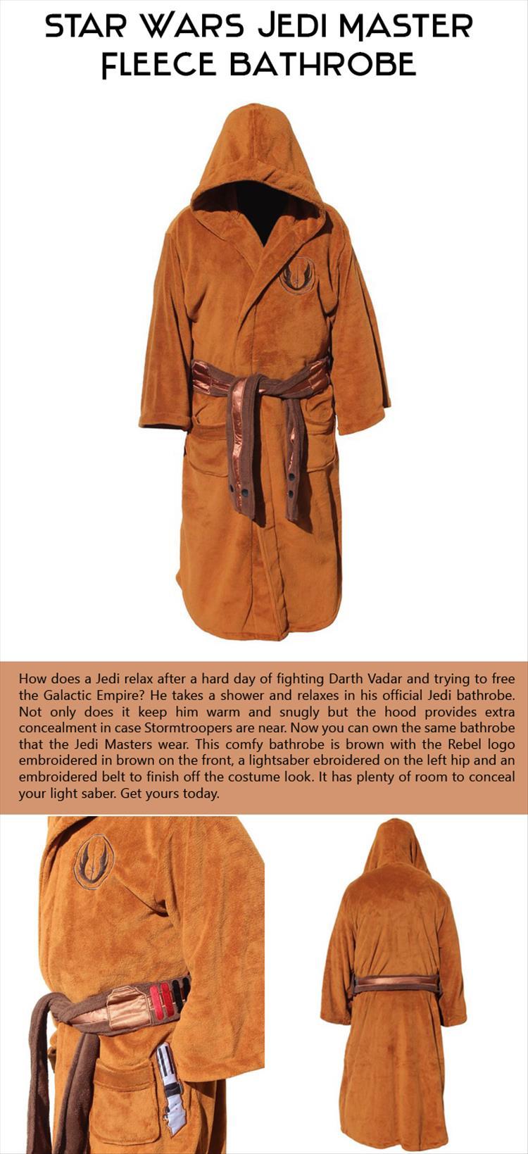 Star Wars Jedi Master Fleece Bathrobe