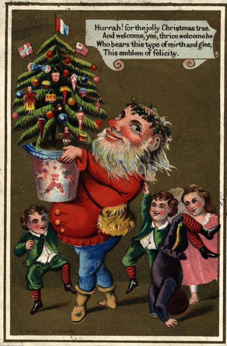 The Creepiest Victorian Christmas Cards Ever 18 Pics
