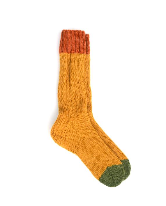 sokken korengeel