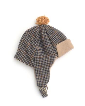muts van gereycled tweed jasje met voering van katoen fleece