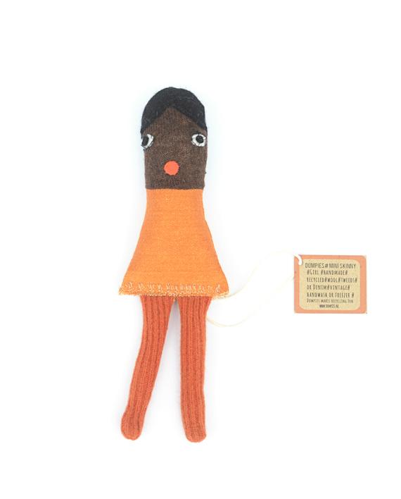 lappenpopje Orange handgemaakt