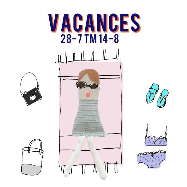vakantie aankondiging