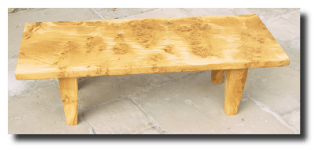 Burr Oak Coffee Table Commissions