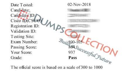Offer October 2019 Cisco 100-105 Latest Dumps Questions