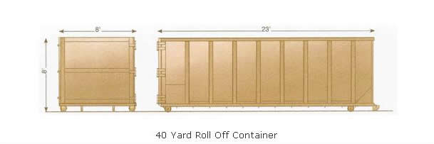 Waterford 40 yard roll off dumpster