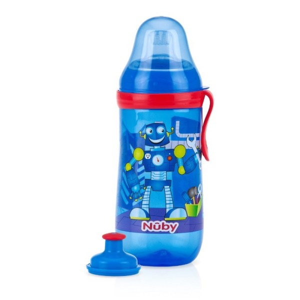 Nuby Free Pop- Sipper - Blue Robot Feeding Cups & Water Bottles Jordan-amman