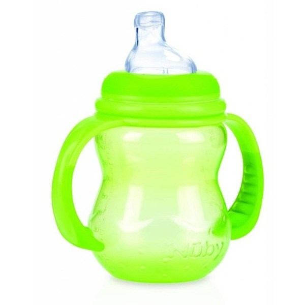 Nuby Id1094g -drip Wide Neck Bottle 240 Ml Green Feeding Bottles Jordan-amman