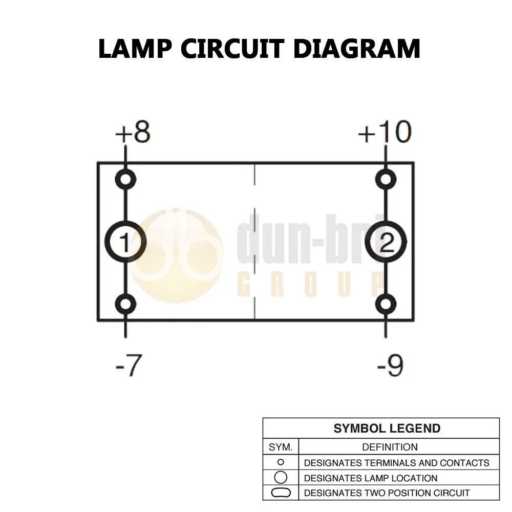 Carling V-Series On/Off/On Switch 2x LED (Amber/Amber) 12V