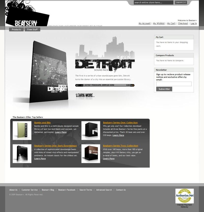 Beatserv - Magento site