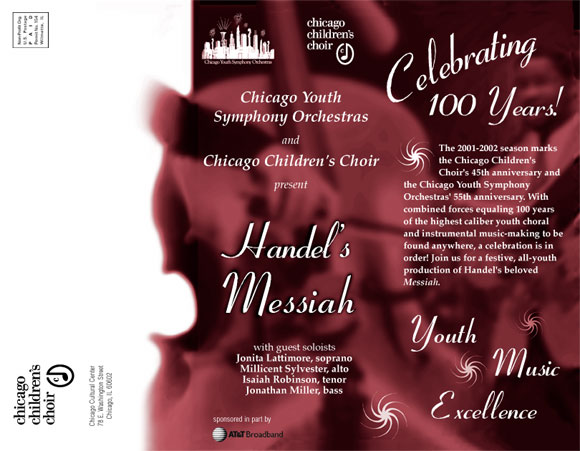 Chicago Youth Symphony Orchestras concert promotion
