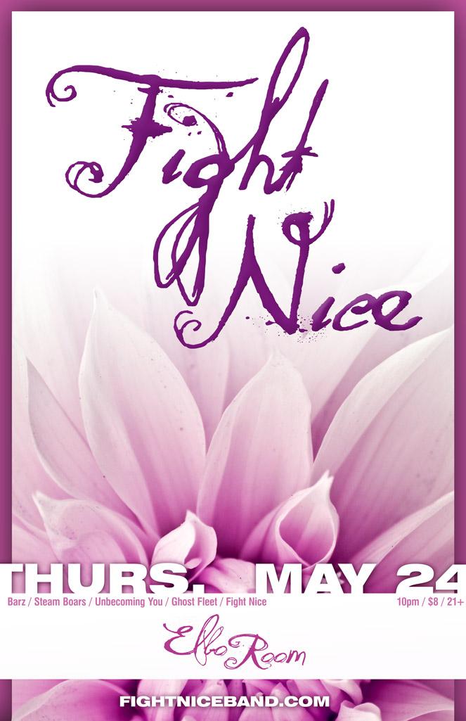 Fight Nice Elbo Room poster