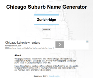 Chicago Suburb Name Generator