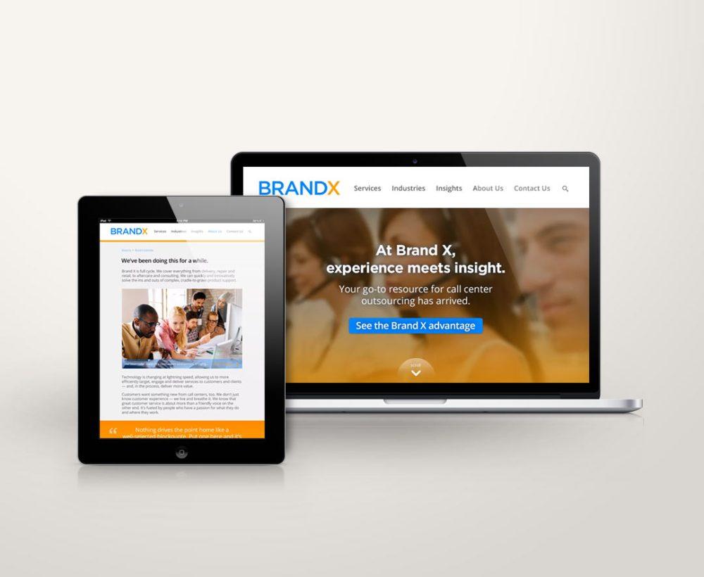 Brand X web design