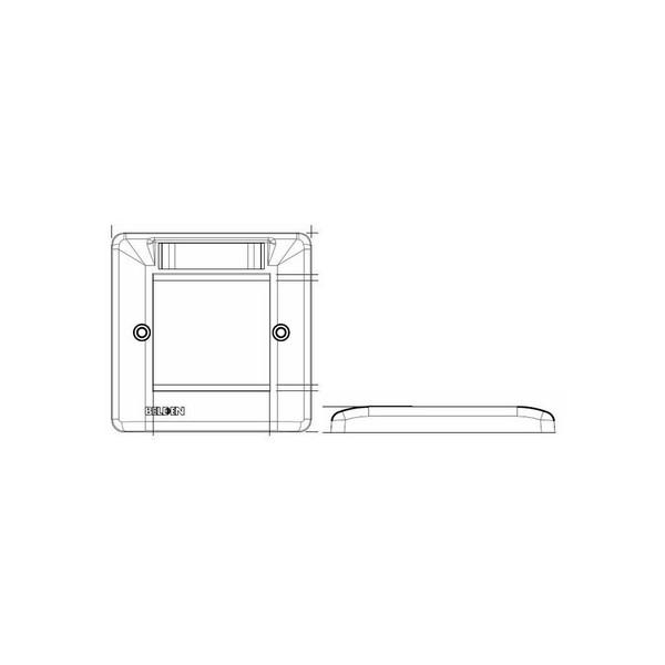 Belden Dual Faceplates (50x100mm) 4x Euro Module Outlet