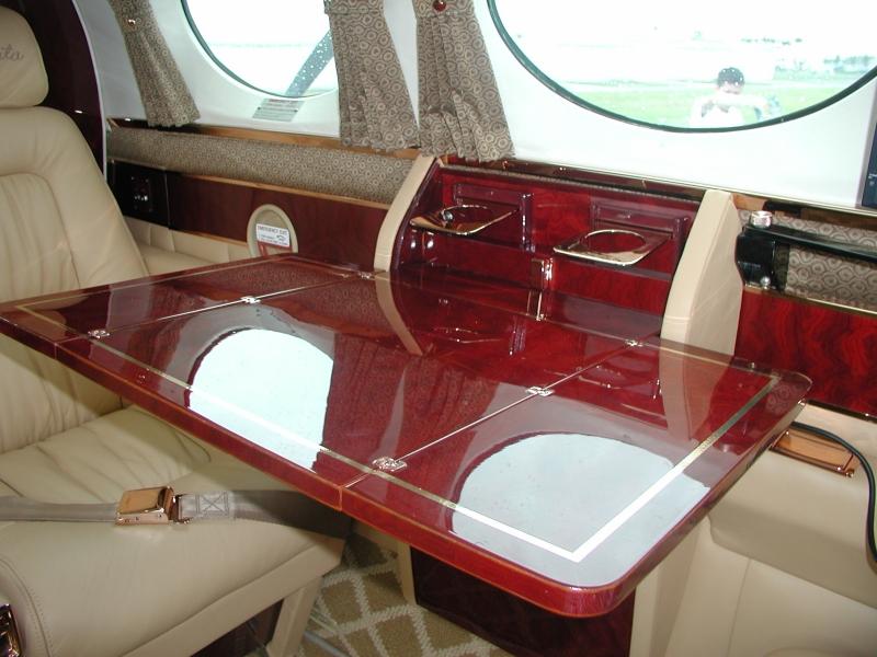 Duncan Interiors Cessna 421 Interior  Cabinets