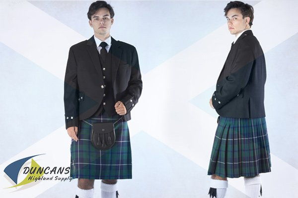 Casual 5 Yard Reiver Light Weight (10 oz) Wool Kilt