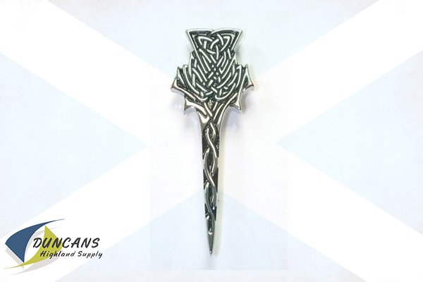 Highland Thistle Kilt Pin - Chrome