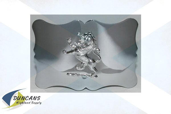 Traditional Lion Buckle - Chrome
