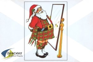 Santa in a Kilt Cards