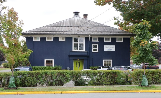 540 Cairnsmore Street. This former school building was the proposed site of a temporary Emergency Women's Shelter until City of Duncan Council voted against that plan on 17 September 2018 (photo by DuncanTaxpayers.ca