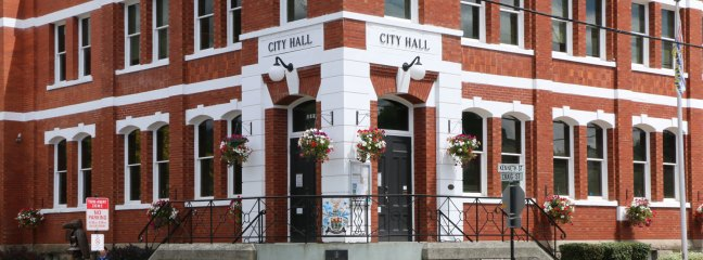 Duncan City Hall photo, cropped for use as web page headers