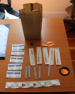 An example of the drug use kits handed out, free of charge, by the Needle Exchange in Duncan. (photo by DuncanTaxpayers.ca)