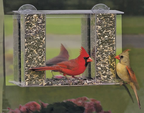 homemade window bird feeders photo