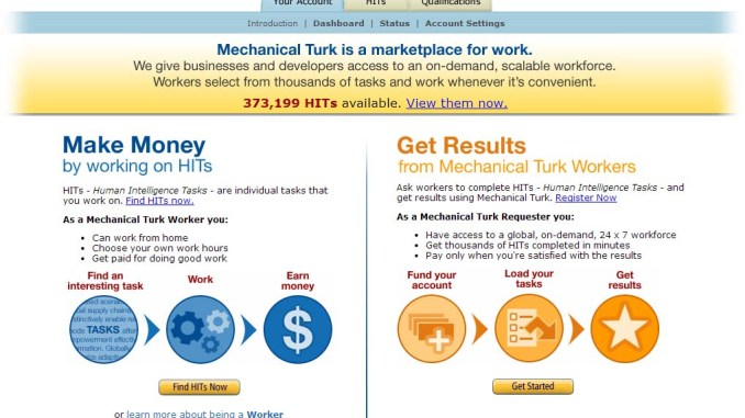 Amazon mechanical turk dundi