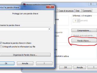Winrar password archivio