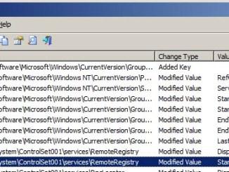 Registrychangesview monitorare le modifiche nel registro di sistema