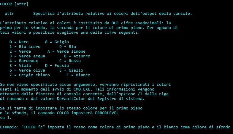 Cambia Colori Nel Prompt Dei Comandi In Windows 10